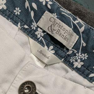 Christopher & Banks white crop pants